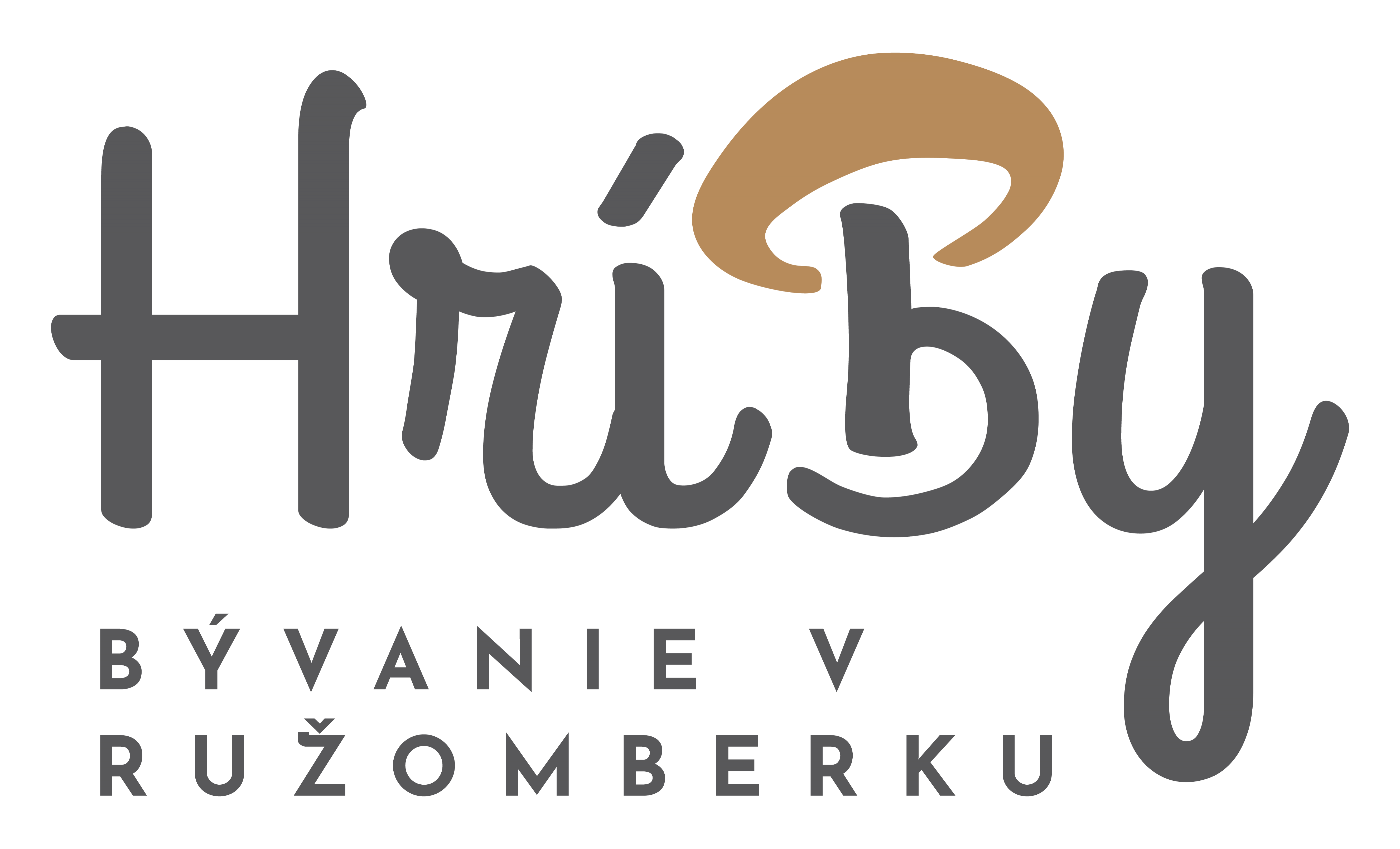 Hríby - bývanie v Ružomberku | Logo